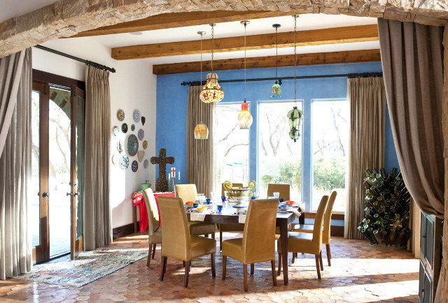Southwestern Dining Room by Astleford Interiors, Inc.
