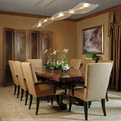 asian dining room by Interiors by Mary Susan
