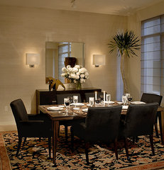 asian dining room by Michael Merrill Design Studio, Inc