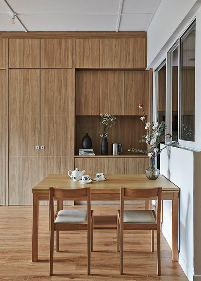 Contemporary Dining Room by Three-d Conceptwerke