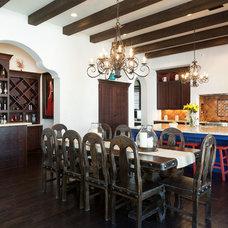 Mediterranean Dining Room by Cason Graye Homes