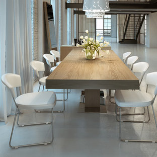 Example of a trendy dining room design in Orange County