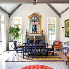 Transitional Dining Room by Michelle Workman Interiors