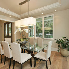 Transitional Dining Room by Clarum Homes
