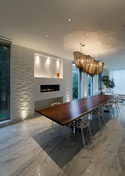 Contemporary Dining Room by Lightology