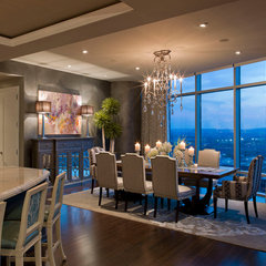 contemporary dining room by Bravo Interior Design