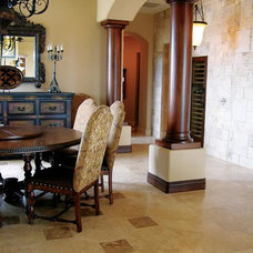 Traditional Dining Room by Authentic Durango Stone™