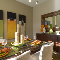 Contemporary Dining Room by SRM Architecture and Interiors