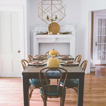 Autumn-Inspired Southwestern Boho Dining Area