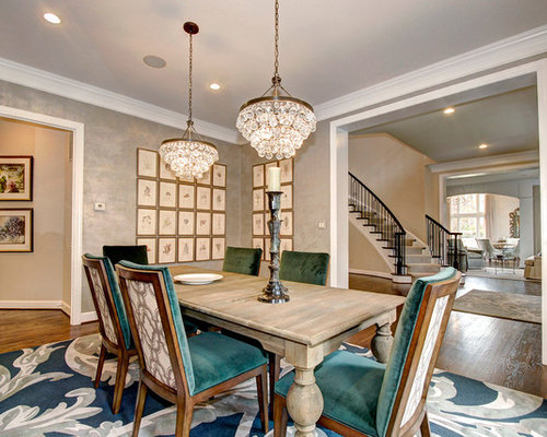 Best transitional dining room with metallic walls design for Best transitional dining rooms