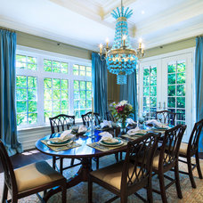 Traditional Dining Room by Avissa Mojtahedi Architecture & Design Inc.