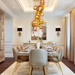 This is an example of a contemporary dining room in London.
