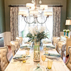 eclectic dining room by Eric Ross Interiors, LLC
