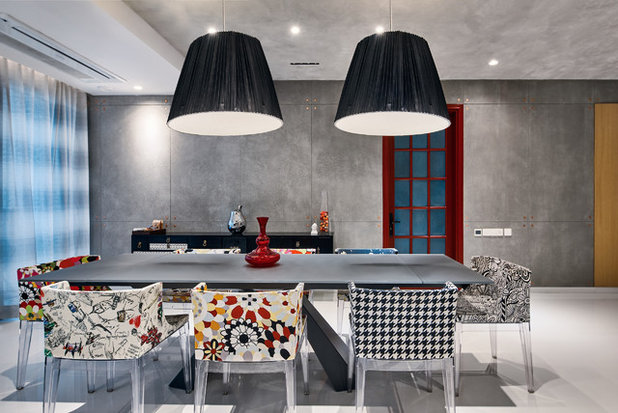 Contemporary Dining Room by Fadd Studio