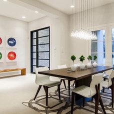 Modern Dining Room by John Lively & Associates