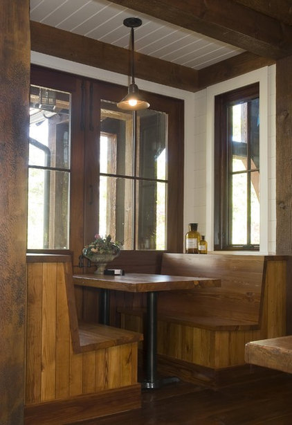 Rustic Dining Room by Wright Design