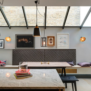 Contemporary dining room in London.