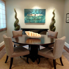 Contemporary Dining Room by Ashley Roi Jenkins Design, LLC