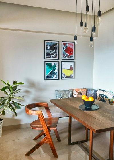 Eclectic Dining Room by NaCL- Natasha Aggarwal | Creative Living