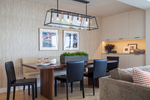 Transitional Dining Room by Lee Kimball