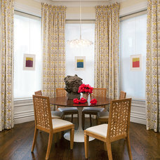 Transitional Dining Room by Spazio Rosso