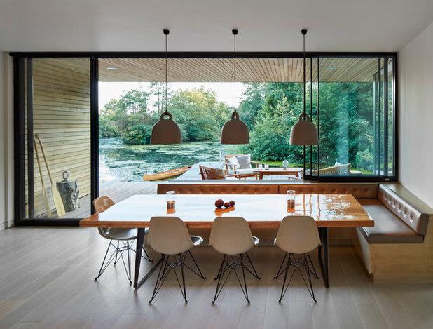 Coastal Dining Room by Platform 5 Architects