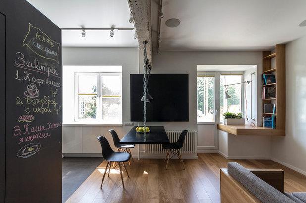 Современный Столовая by Архитектурная студия Ruetemple