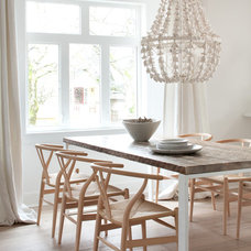 Transitional Dining Room by Kelly Deck Design