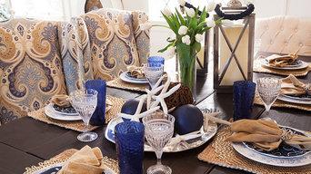 Balboa Beach Cottage table setting