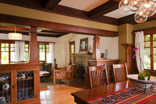 Craftsman Dining Room by Bali Construction