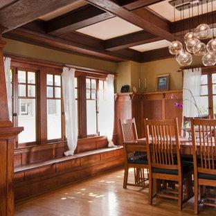 Выдающиеся фото от архитекторов и дизайнеров интерьера: столовая в стиле кантри