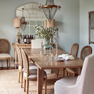 Inspiration For A Farmhouse Dark Wood Floor And Brown Dining Room Remodel In Charlotte With