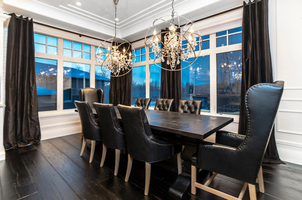 Transitional Dining Room by Novel Painting Solutions Inc.