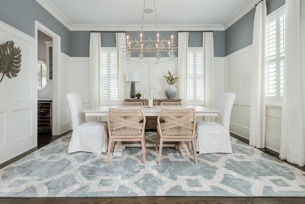 Beach Style Dining Room by Ally Whalen Design
