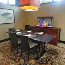 Asian Dining Room by Wharton Interiors
