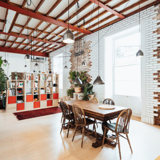 Design ideas for an eclectic dining room in London.
