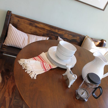 Banquette Seating with Antique Church Pew (Deacon's Bench)