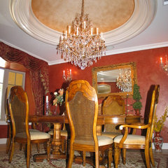 mediterranean dining room by Barber Builder's