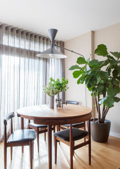 Transitional Dining Room by Kate Monckton Interior Design
