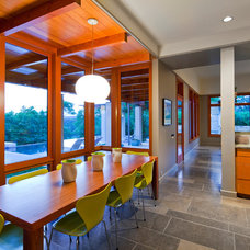 Contemporary Dining Room by Fine Focus Photography