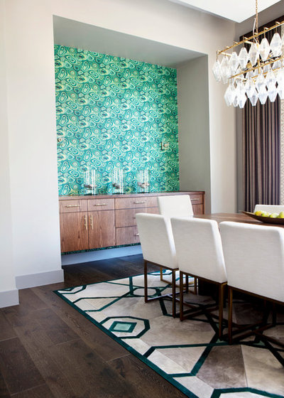 Transitional Dining Room by Etch Design Group