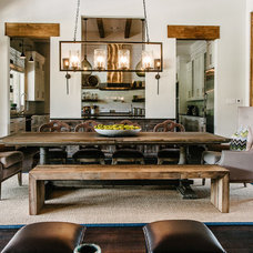Transitional Dining Room by Schroeder