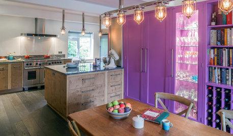 Kitchen Tour: Bright Colour and Warm Oak in a 1960s Bungalow