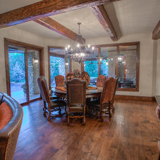 Rustic Dining Room by Brent Gibson Classic Home Design