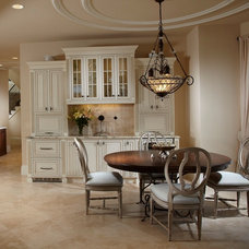 mediterranean dining room by The Lykos Group, Inc.