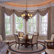 Contemporary Dining Room by Masterworks Window Fashions & Design