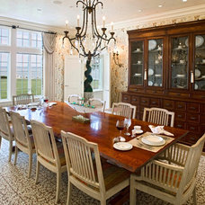 Traditional Dining Room by Bruce Palmer Coastal Design