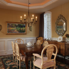 Traditional Dining Room by Amy Tyndall Design