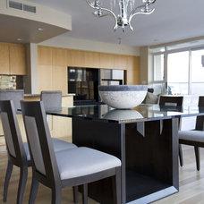 Contemporary Dining Room by ZWADA home