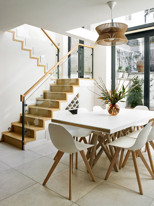 Roche bobois dining table houzz for Dining room under stairs